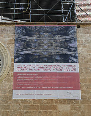 St. Nicholas of Bari and San Pedro Martir,  poster about the restoration